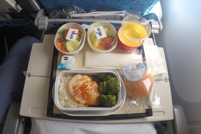 Gluten Free strava v letadle / foto: dovolenkářka
