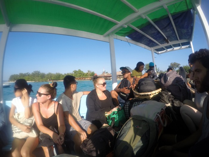 Odjezd z Gili Meno na Lombok