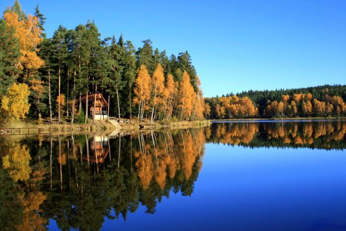 Šumava- Křišťanovický rybník / foto: dovolenkářka