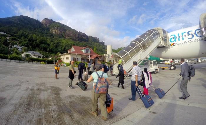 Seychely - letiště Mahe / foto: dovolenkářka