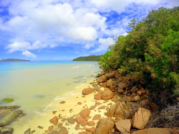 Seychely - Praslin - výhled z našeho altánku / foto: dovolenkářka