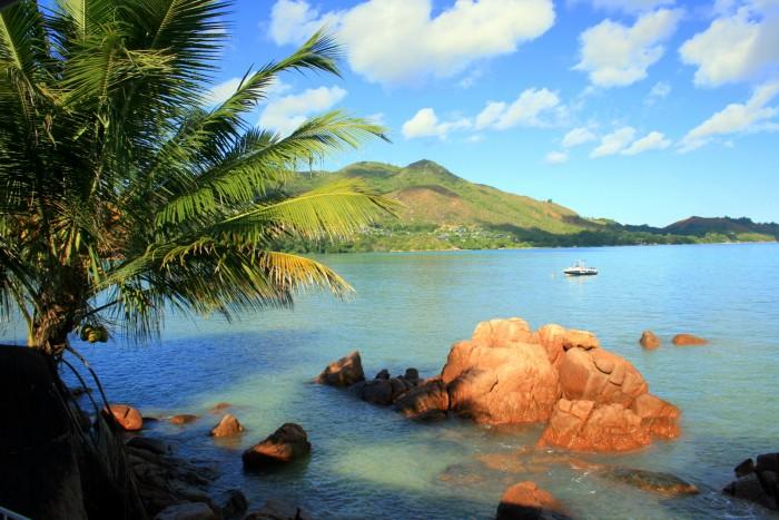 Seychely - Praslin - výhled z terasy od snídaně / foto: dovolenkářka