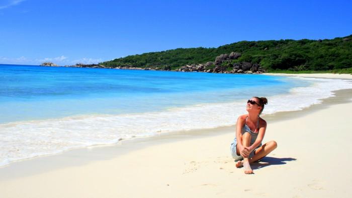 Seychely - La Digue - Grand Anse / foto dovolenkářka