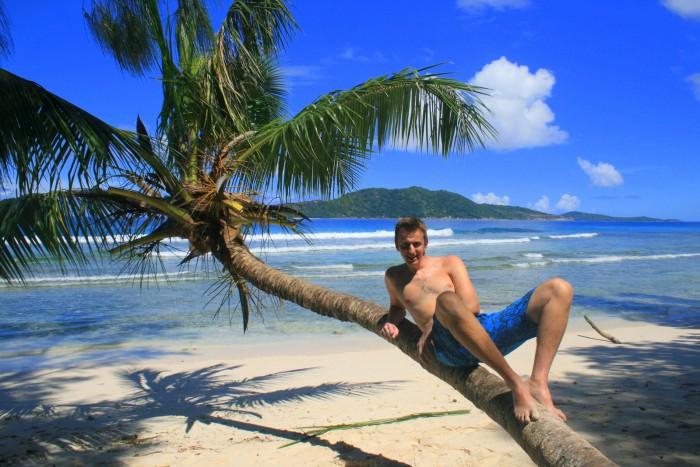"""Seychely - La Digue - s palmou jsme se opravdu """"vyřádili"""" ;-) / foto: dovolenkářka"""