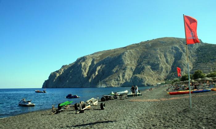Santorini - Kamari Beach / Foto: dovolenkářka