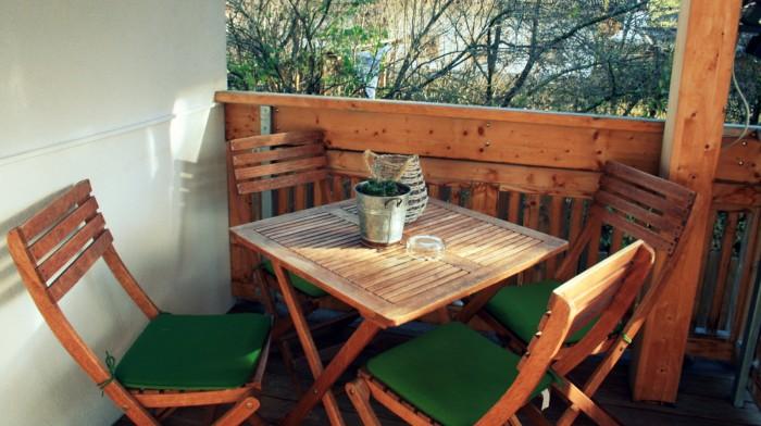 Posezení na balkóně / Foto: Petra Švehlová Stowasserová